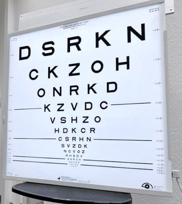 Optikusneuropathie Verschwommenes Sehen Sehschärfe ETDRS-Test Berlin